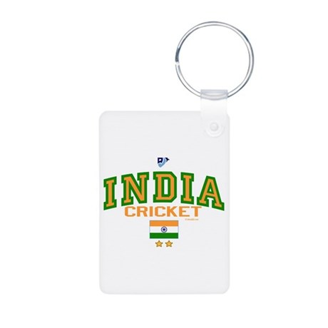 IN India Indian Cricket Aluminum Photo Keychain