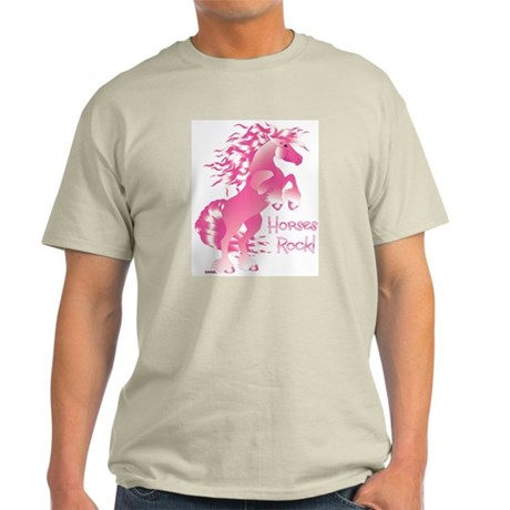 Horses Rock Pink Light T-Shirt