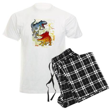 T-Rex fight Men's Light Pajamas