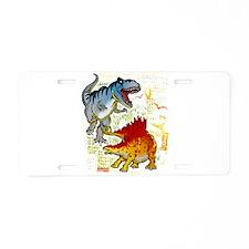 T-Rex fight Aluminum License Plate