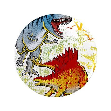"""T-Rex fight 3.5"""" Button"""