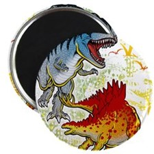 "T-Rex fight 2.25"" Magnet (10 pack)"