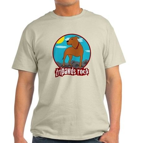 Tripawds Rock - Trouble Light T-Shirt