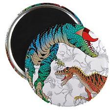 "Rex and Velociraptor 2.25"" Magnet (100 pack)"