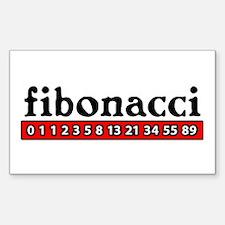 Fibonacci Rectangle Decal