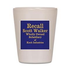 Recall Scott Walker Shot Glass