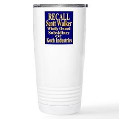 Recall Scott Walker Travel Mug