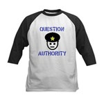 Question Authority Kids Baseball Jersey