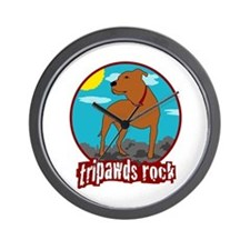 Tripawds Rock (Trouble) Wall Clock