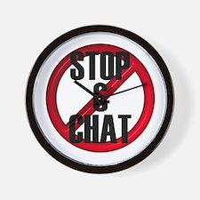 No Stop & Chat Wall Clock