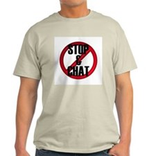 No Stop & Chat Ash Grey T-Shirt