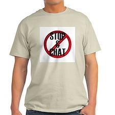 No Stop & Chat Ash Grey T-Shirt