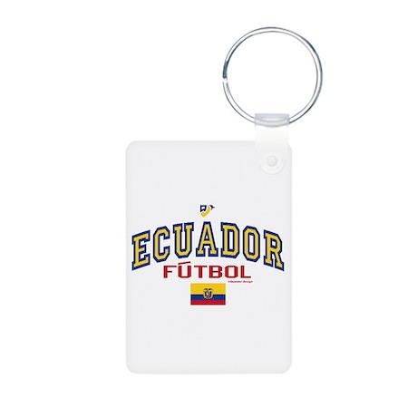 Ecuador Futbol/Soccer Aluminum Photo Keychain