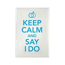 Keep Calm and Say I Do Rings Rectangle Magnet