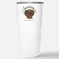 Autism Mosaic Heart Travel Mug
