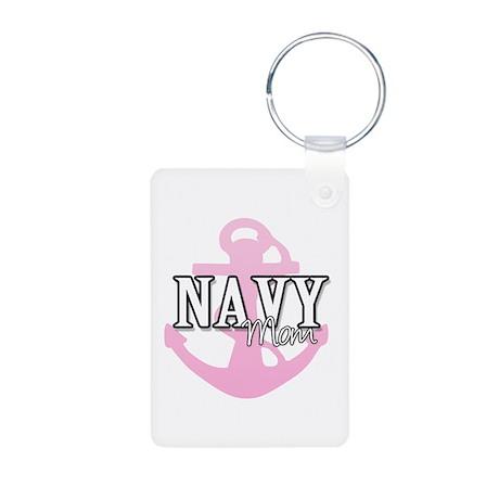 Navy Mom Anchor - Aluminum Photo Keychain