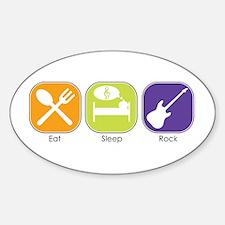 Eat Sleep ROCK Oval Decal