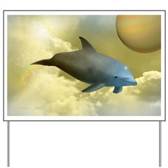 Fantasy Dolphin Yard Sign