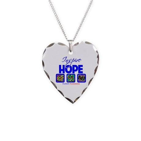 Autism Inspire Hope Necklace Heart Charm