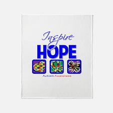 Autism Inspire Hope Throw Blanket