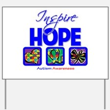 Autism Inspire Hope Yard Sign