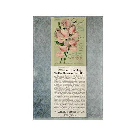 Vintage Burpee's Ad Rectangle Magnet