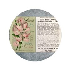 """Vintage Burpee's Ad 3.5"""" Button (100 pack)"""