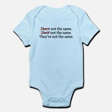 There Their They're Not The S Infant Bodysuit