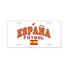 Espana Futbol/Spain Soccer Aluminum License Plate