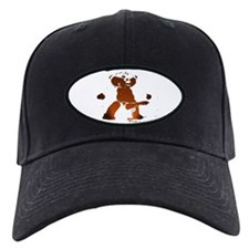 LEATHER BEAR_brown/black_cartoonish_ Baseball Hat