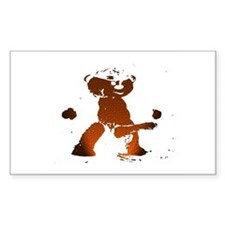 LEATHER BEAR_brown/black_cartoonish_ Decal