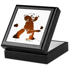 LEATHER BEAR_brown/black_cartoonish_ Keepsake Box