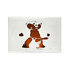 LEATHER BEAR_brown/black_cartoonish_ Rectangle Mag