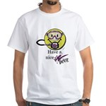 Diving Smiley - pink T-Shirt