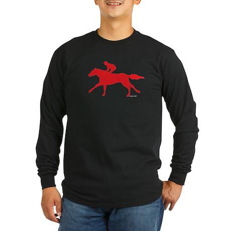 Horse Racing(3) Long Sleeve Dark T-Shirt