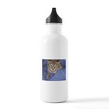 Buddha Cat Blues Water Bottle