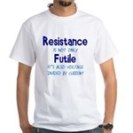 Resistance Is Futile and Volt White T-Shirt