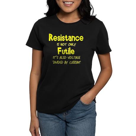 Resistance Is Futile and Volt Women's Dark T-Shirt