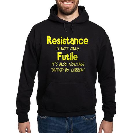 Resistance Is Futile and Volt Hoodie (dark)