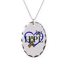 Autism Hope Heart Necklace