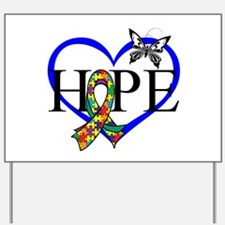 Autism Hope Heart Yard Sign