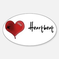 Heart Beat Oval Decal
