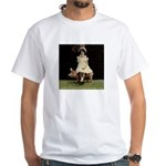 Girl on Taxidermy Pig White T-Shirt