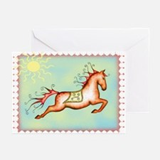 Sunny Sky Capriole Horse Greeting Cards (Package o