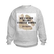 My Cousin Wears Navy DCB Sweatshirt