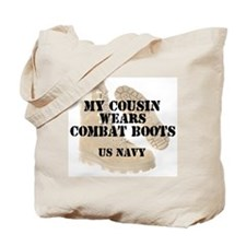 My Cousin Wears Navy DCB Tote Bag