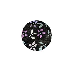 Dye-painted Flowers Mini Button