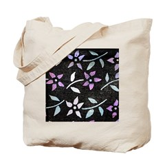 Dye-painted Flowers Double-sided Tote Bag