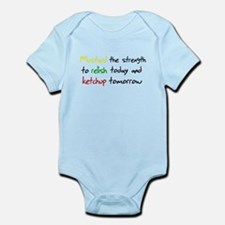 Mustard the strength to relis Infant Bodysuit
