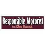 Responsible Motorist in Trunk Bumper Sticker